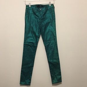 Joe's metallic green jeans juniors size 14